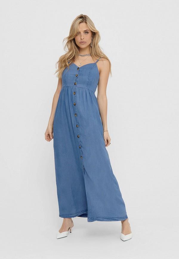 женский сарафан only, синий