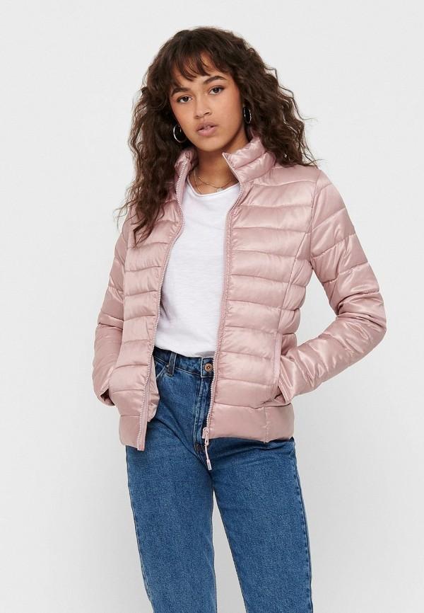 женская куртка only, розовая