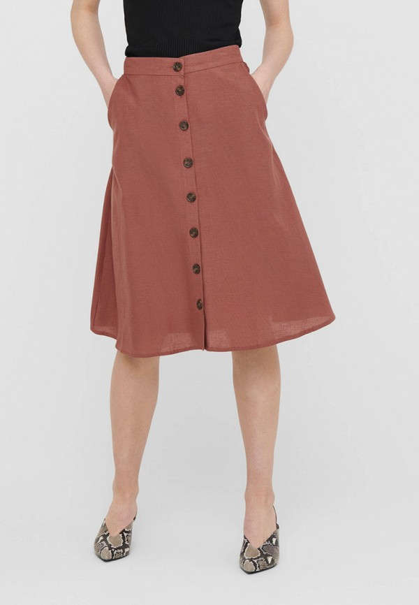женская юбка only, бордовая