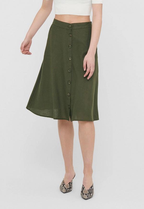 женская юбка only, зеленая