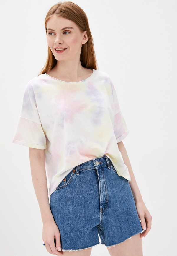 женская футболка only, разноцветная