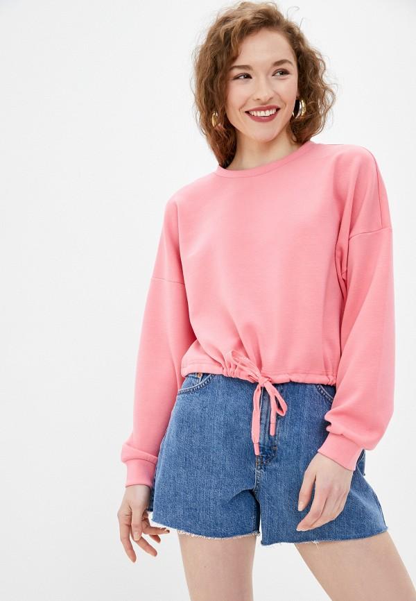женский свитшот only, розовый