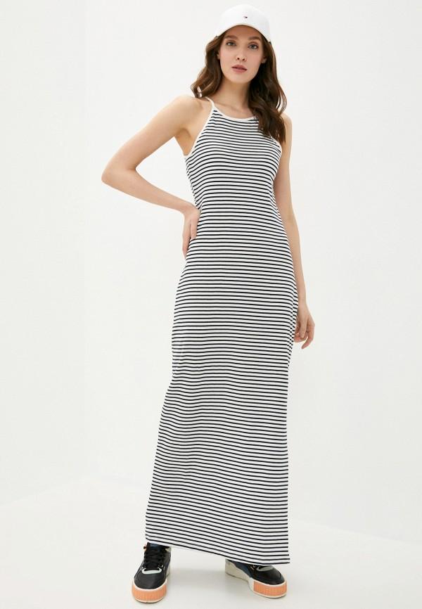 женское платье only, синее