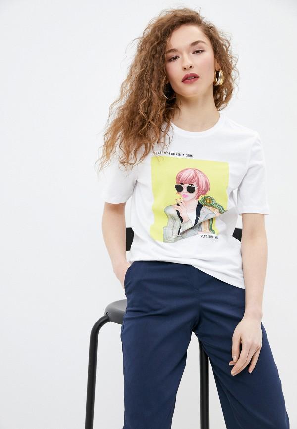 женская футболка only, белая