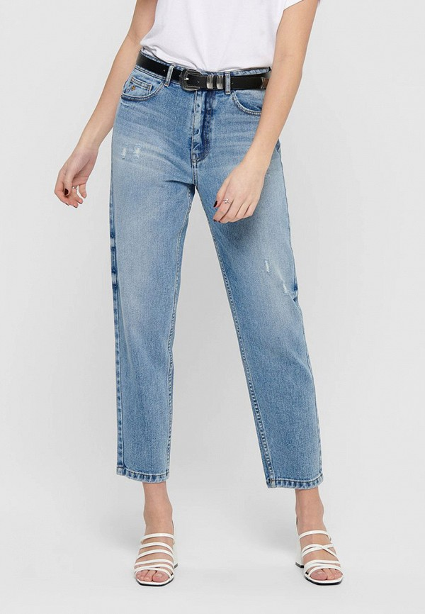 женские прямые джинсы only, голубые