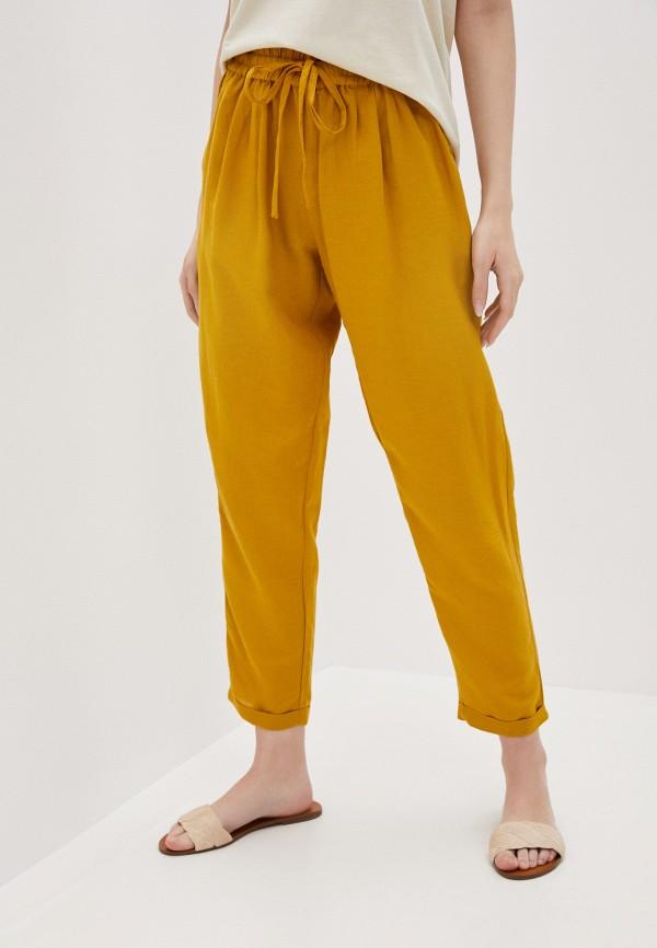 женские брюки only, желтые