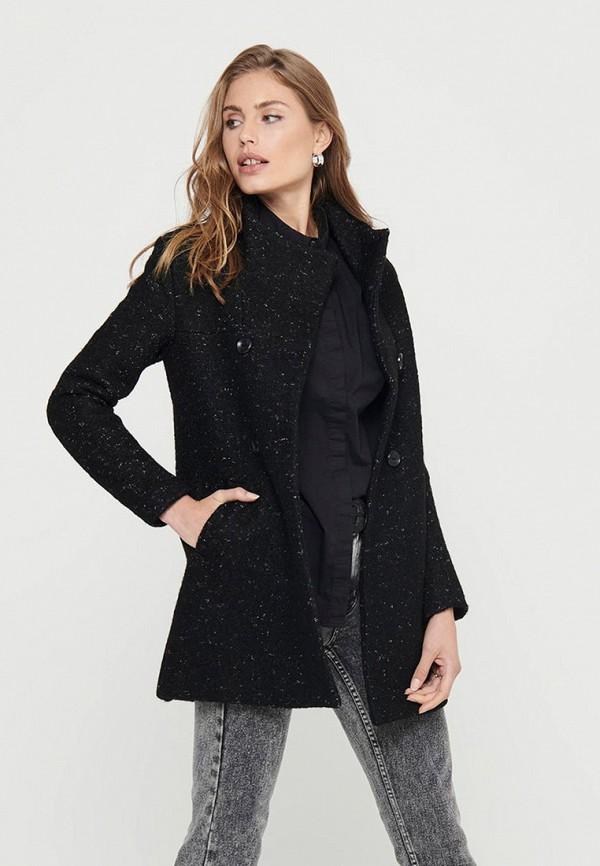 женское пальто only, черное