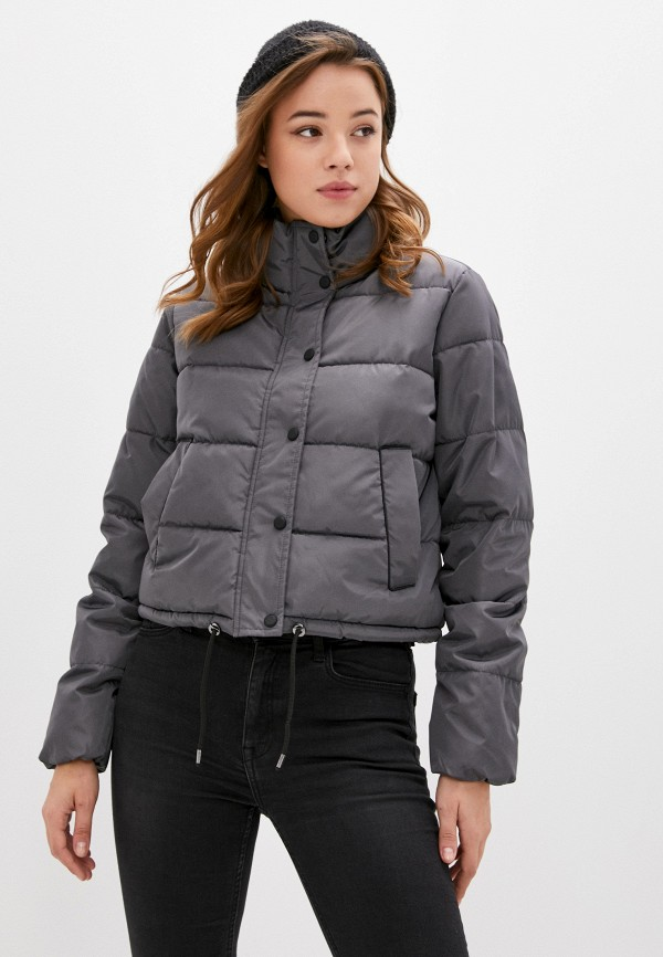 женская куртка only, серая