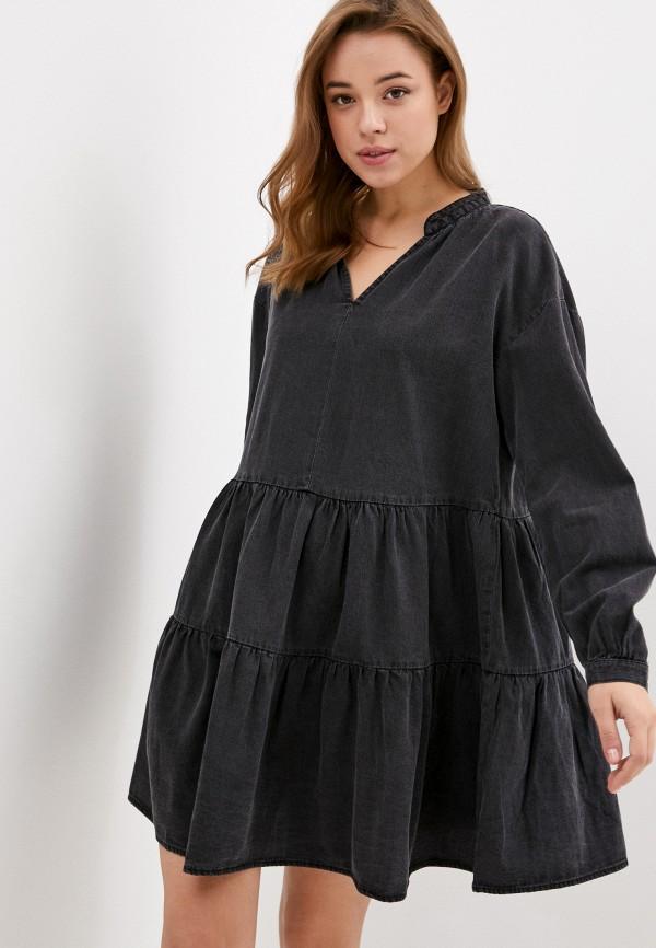 женское повседневные платье only, серое