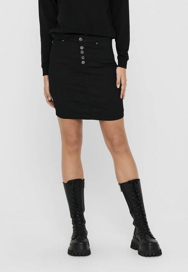 женская джинсовые юбка only, черная