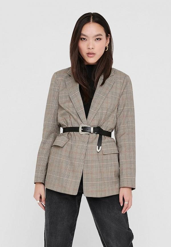 женский пиджак only, коричневый