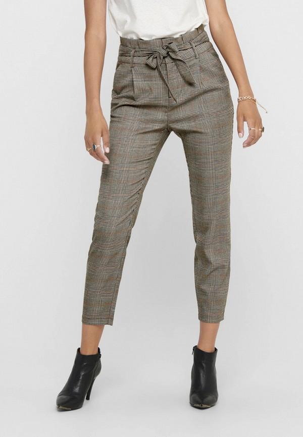 женские классические брюки only, коричневые
