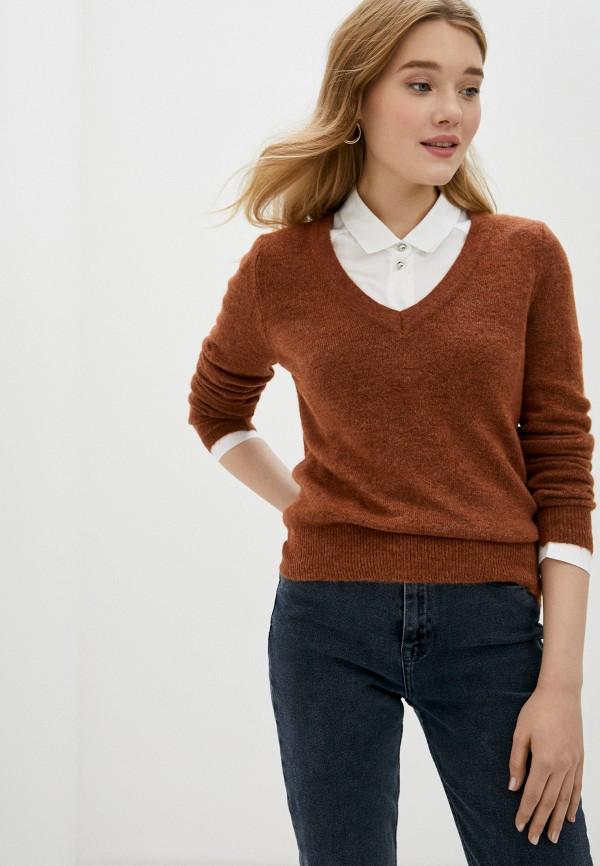 женский пуловер only, коричневый