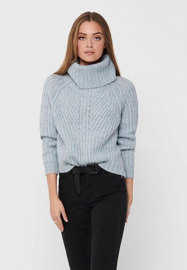 женский свитер only, голубой