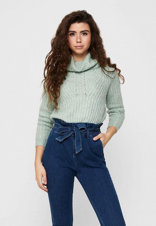 женский свитер only, бирюзовый
