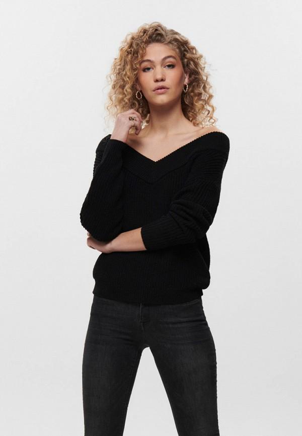 женский пуловер only, черный