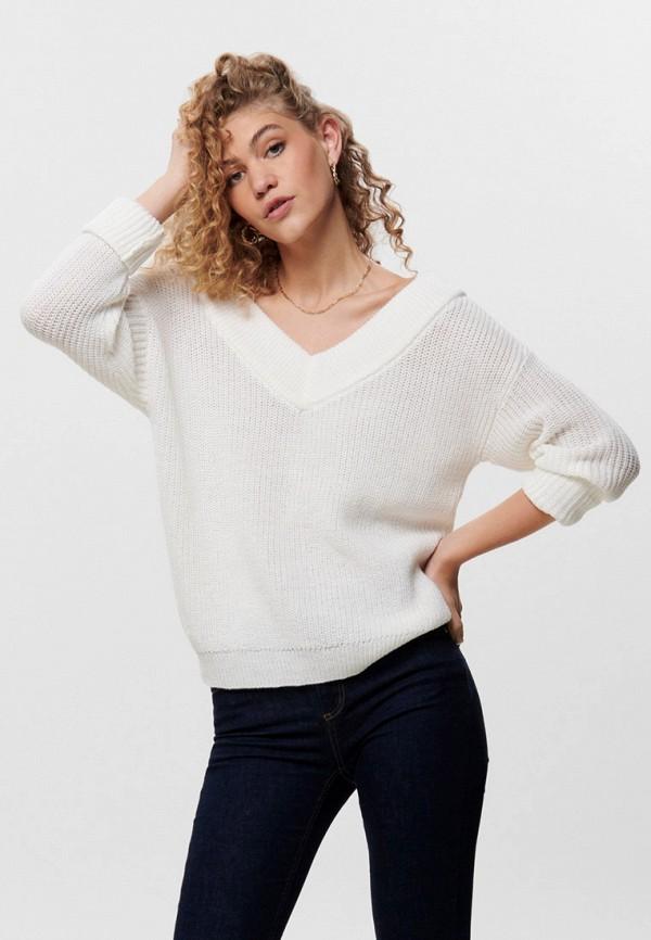 женский пуловер only, белый