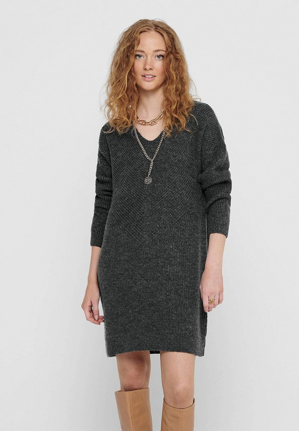 женское платье only, серое