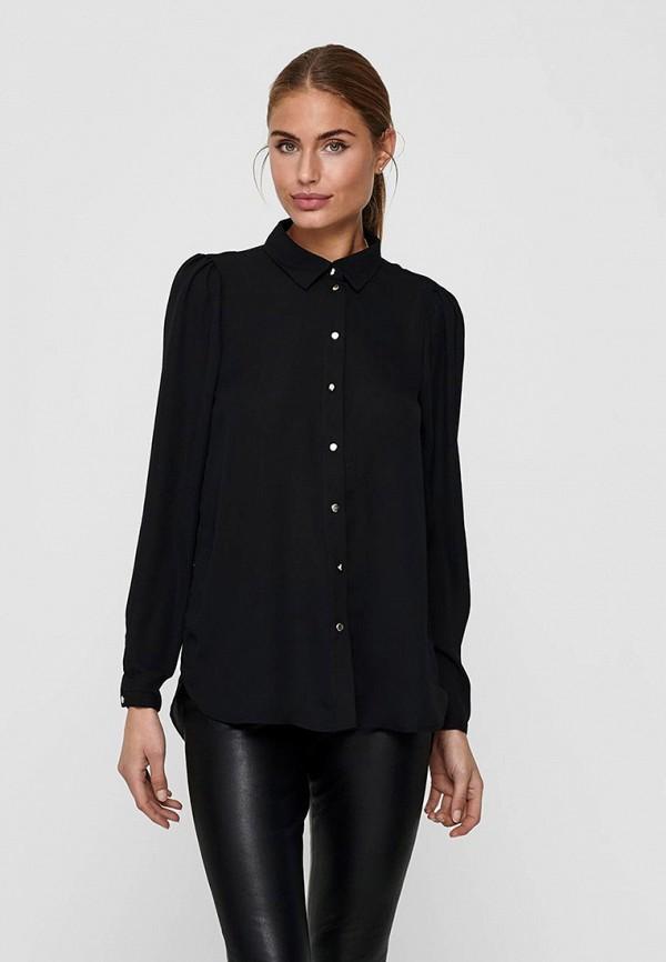 женская рубашка с длинным рукавом only, черная