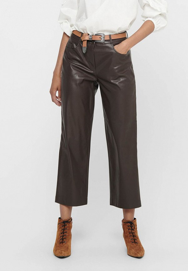 женские брюки only, коричневые