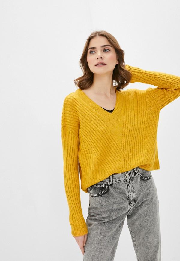 женский пуловер only, желтый