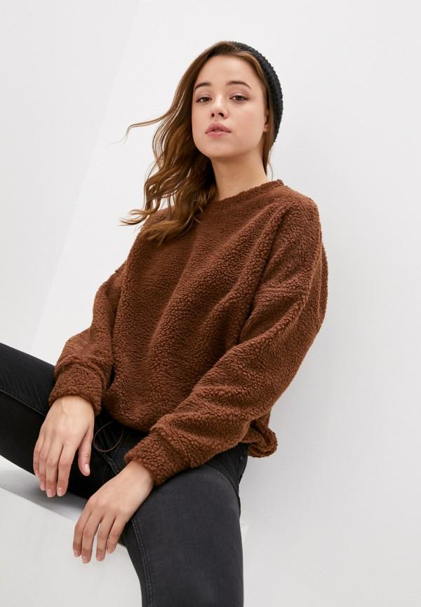 женский свитшот only, коричневый