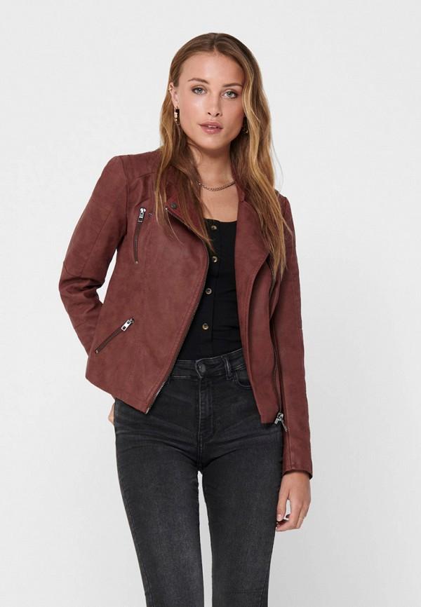 женская куртка only, бордовая