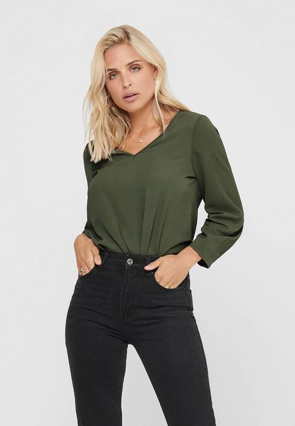 женская блузка only, зеленая