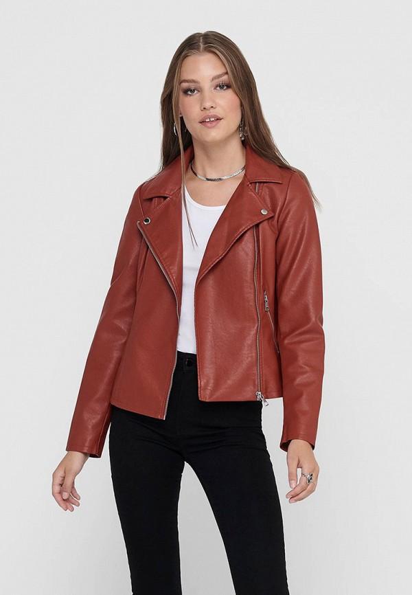 женская куртка only, коричневая