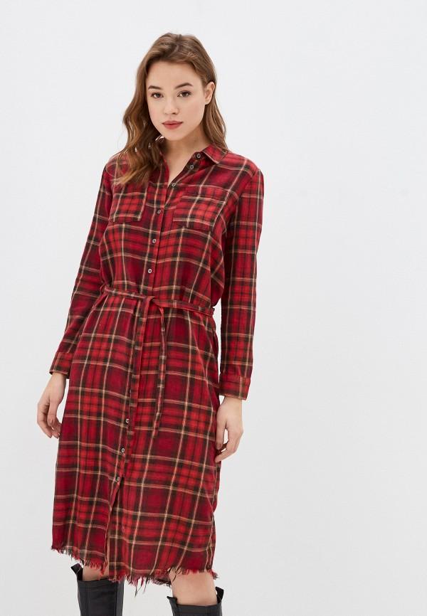 женское платье only, красное