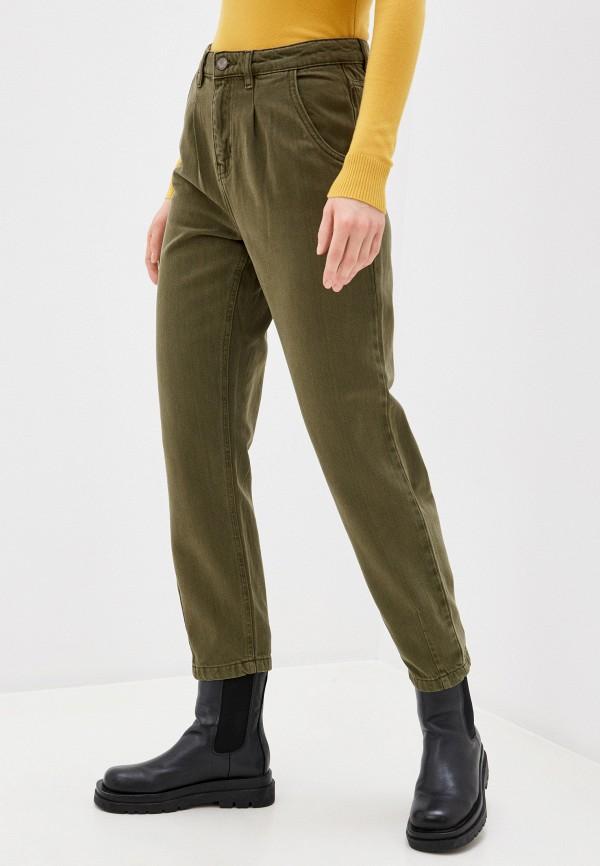 женские зауженные брюки only, зеленые