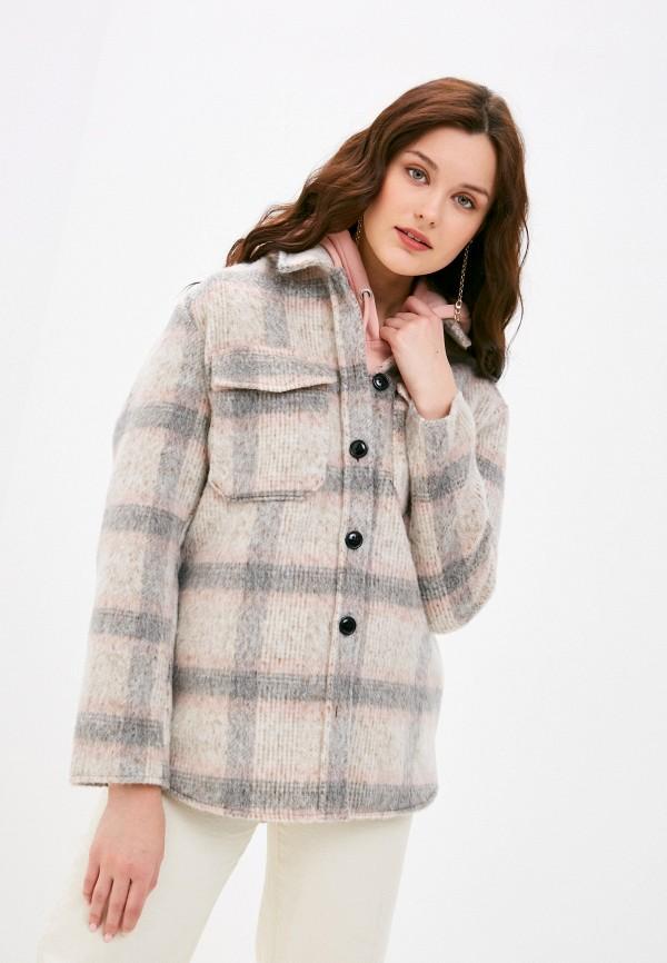 женское пальто only, бежевое