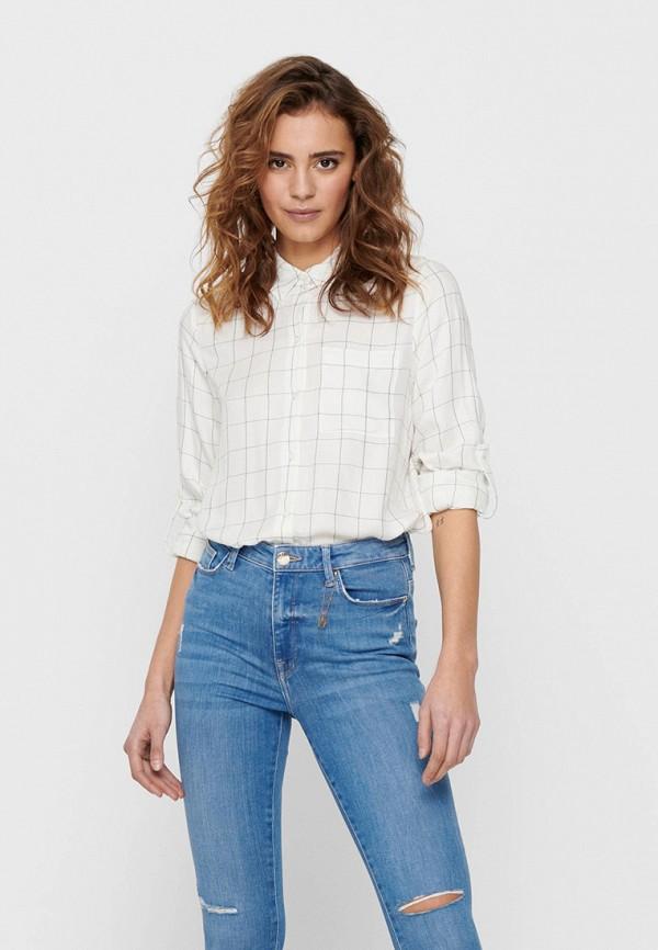 женская рубашка с длинным рукавом only, белая