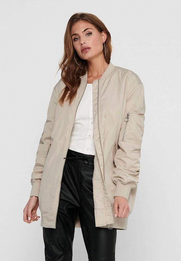 женская куртка only, бежевая