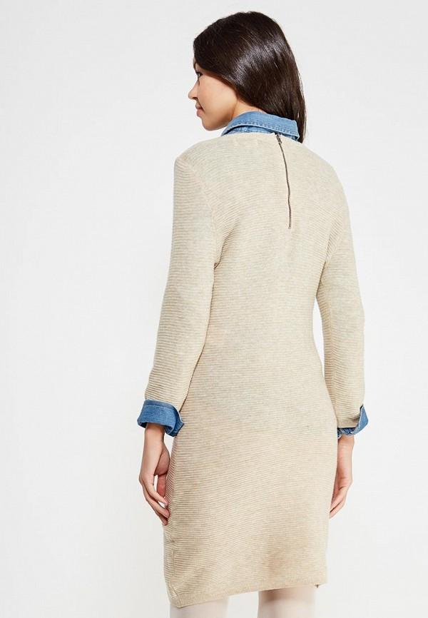 Фото 3 - женское платье Only бежевого цвета