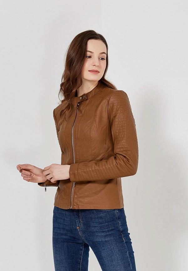 Купить Куртка кожаная Only, on380ewzkx15, коричневый, Весна-лето 2018