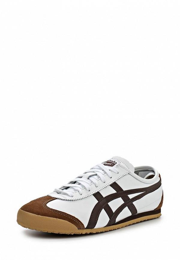 Кроссовки  белый, коричневый цвета