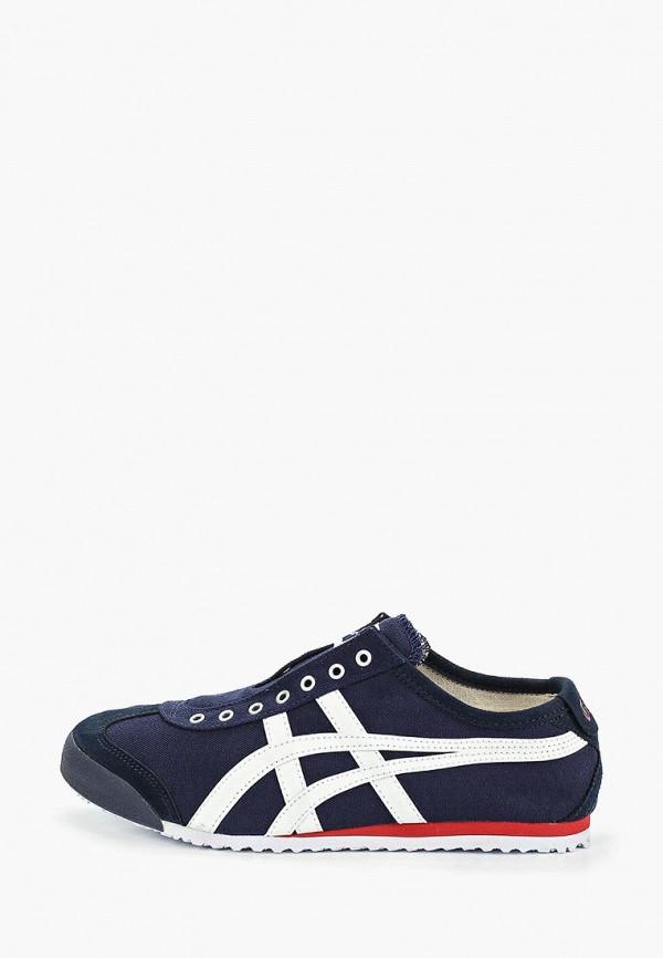 женские низкие кроссовки onitsuka tiger, синие