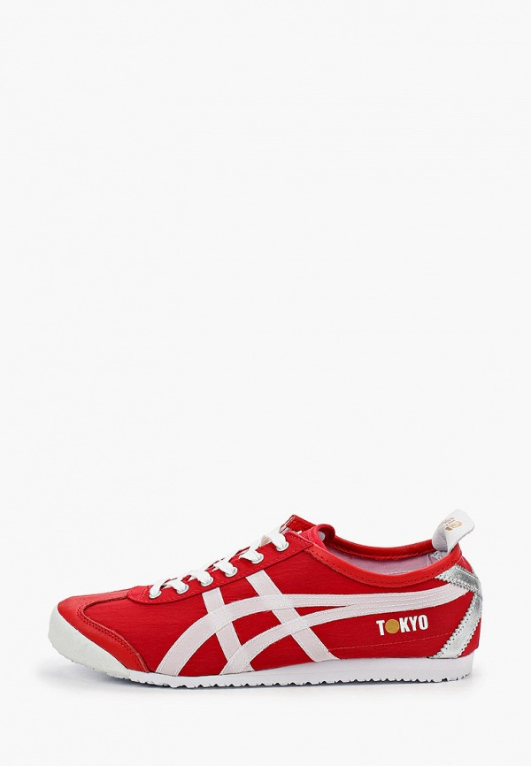 женские кроссовки onitsuka tiger, красные