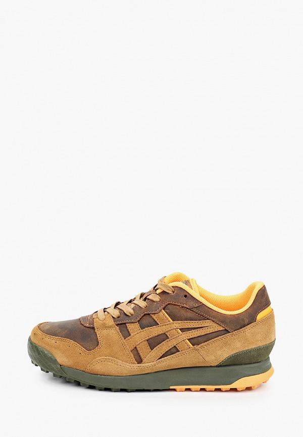 женские кроссовки onitsuka tiger, коричневые