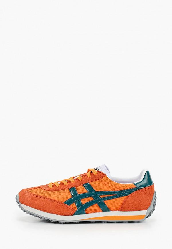женские низкие кроссовки onitsuka tiger, оранжевые