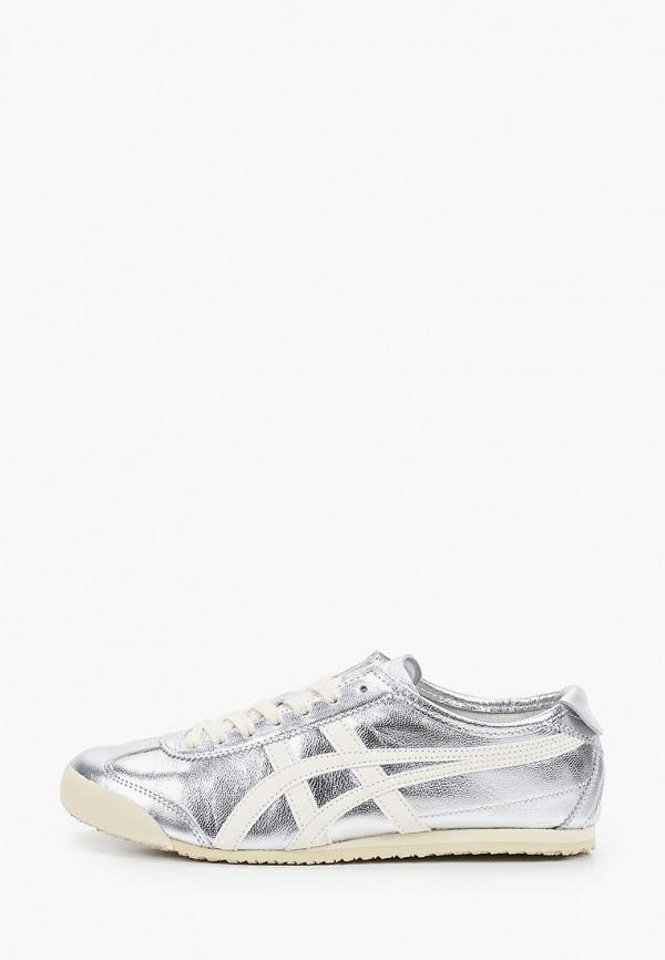 женские кроссовки onitsuka tiger, серебряные