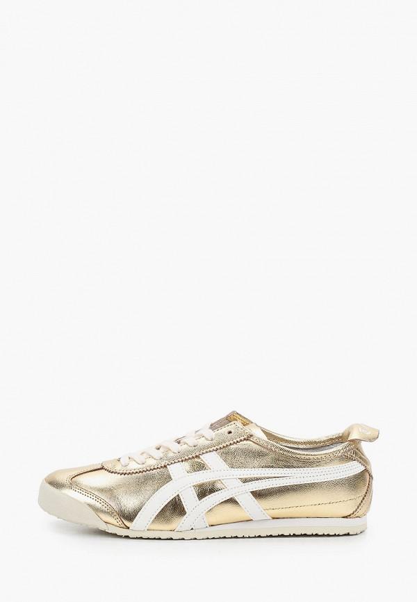 женские кроссовки onitsuka tiger, золотые