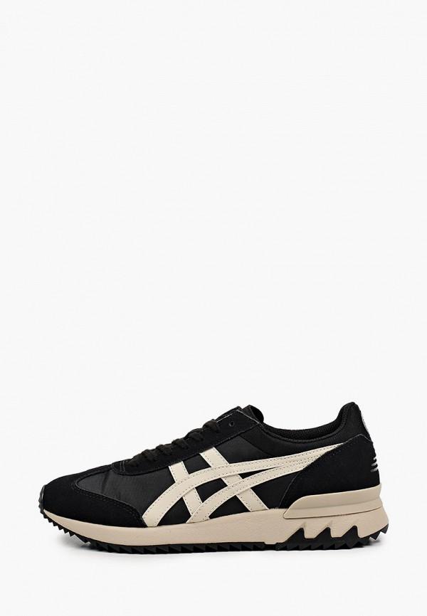 женские низкие кроссовки onitsuka tiger, черные