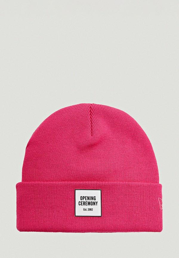 женская шапка opening ceremony, розовая