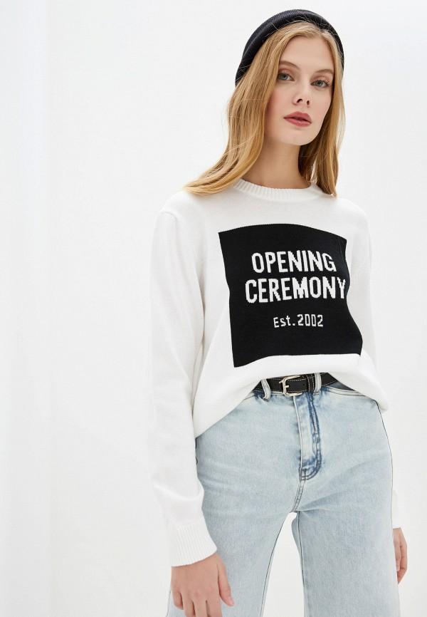 женский джемпер opening ceremony, белый