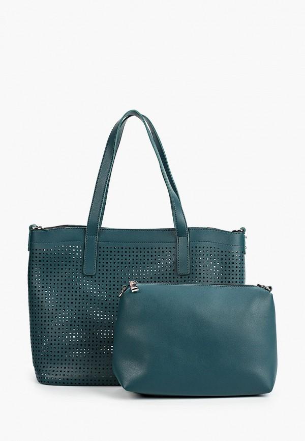 женская сумка ors oro, бирюзовая