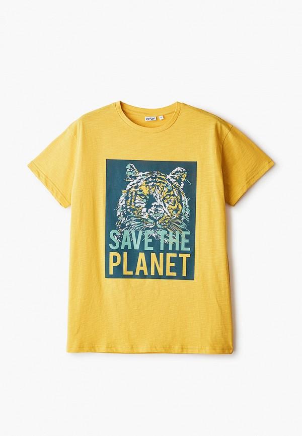 футболка с коротким рукавом orby для мальчика, желтая