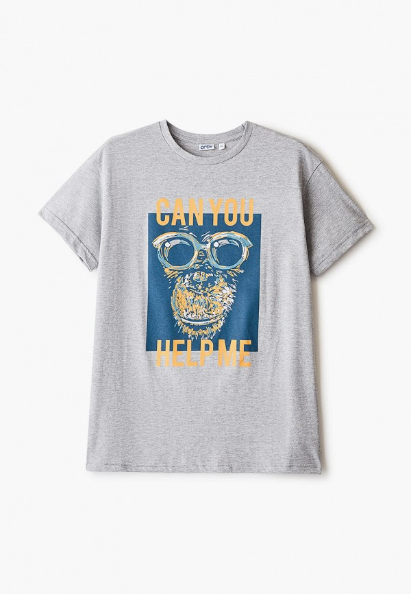 футболка с коротким рукавом orby для мальчика, серая