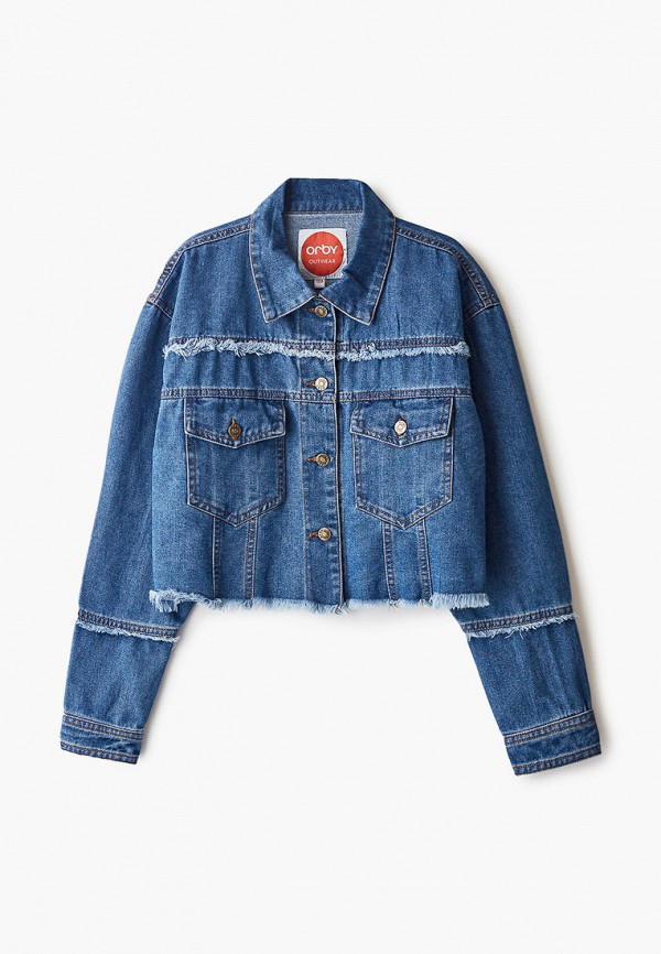джинсовые куртка orby для девочки, синяя